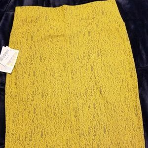 NWT Medium LulaRoe Cassie Skirt-Yellow w/some gray